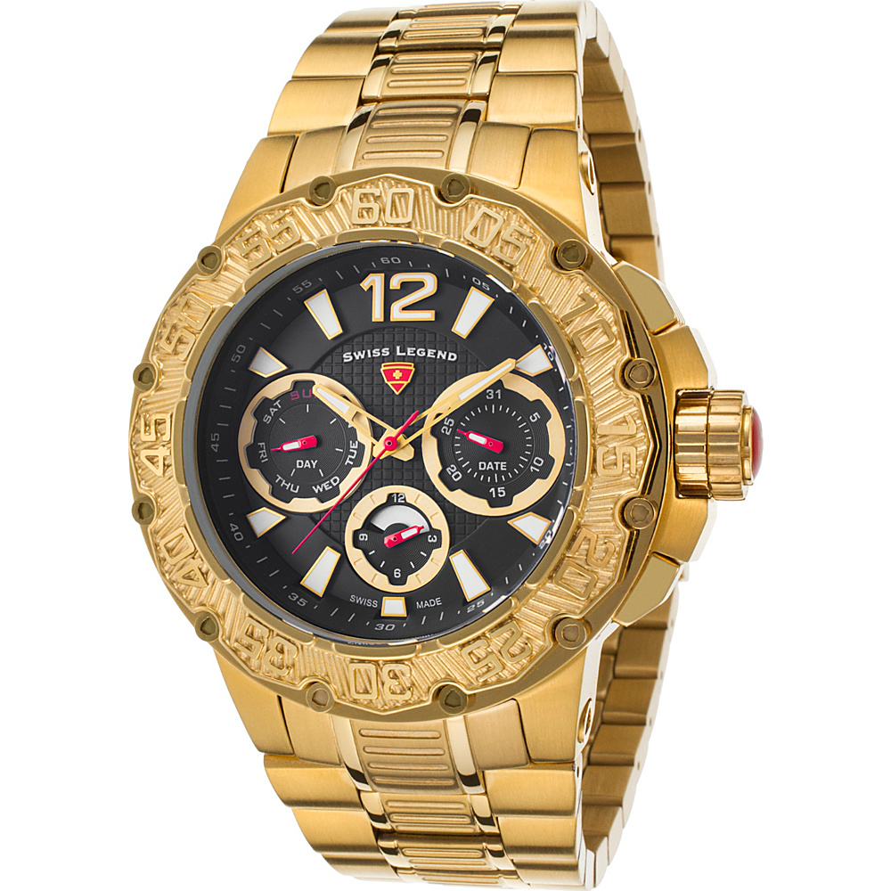 Swiss Legend Watches Ultrasonic Multi-Function Stainless Steel Watch Gold - Swiss Legend Watches Watches