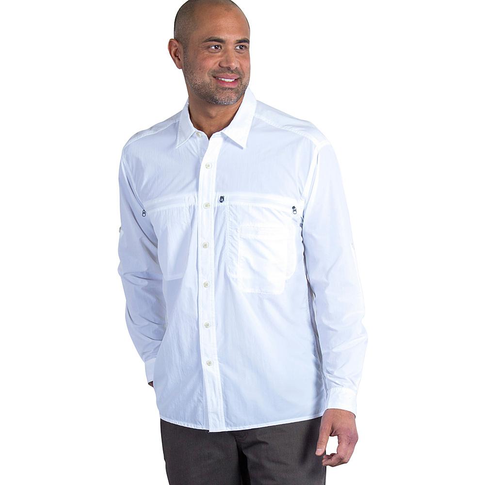 ExOfficio Mens Reef Runner Long Sleeve Shirt 2XL - White - ExOfficio Mens Apparel - Apparel & Footwear, Men's Apparel
