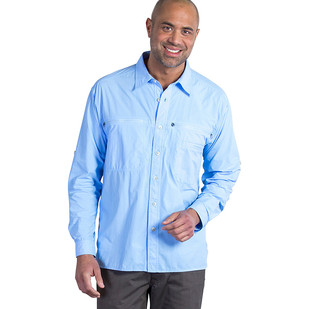ExOfficio Mens Reef Runner Long Sleeve Shirt 2XL - Light Lapis - ExOfficio Womens Apparel - Apparel & Footwear, Women's Apparel
