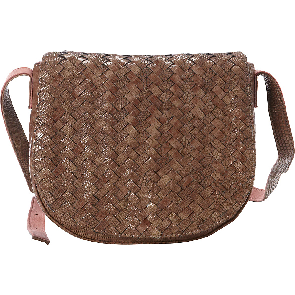 deux lux Reade Saddle Bag Cocoa deux lux Manmade Handbags