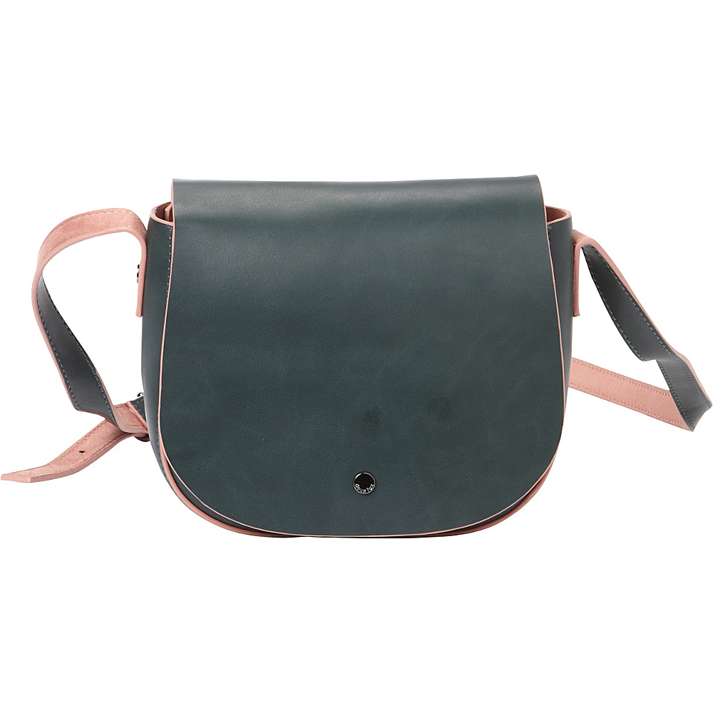 deux lux Reade Saddle Bag Teal deux lux Manmade Handbags