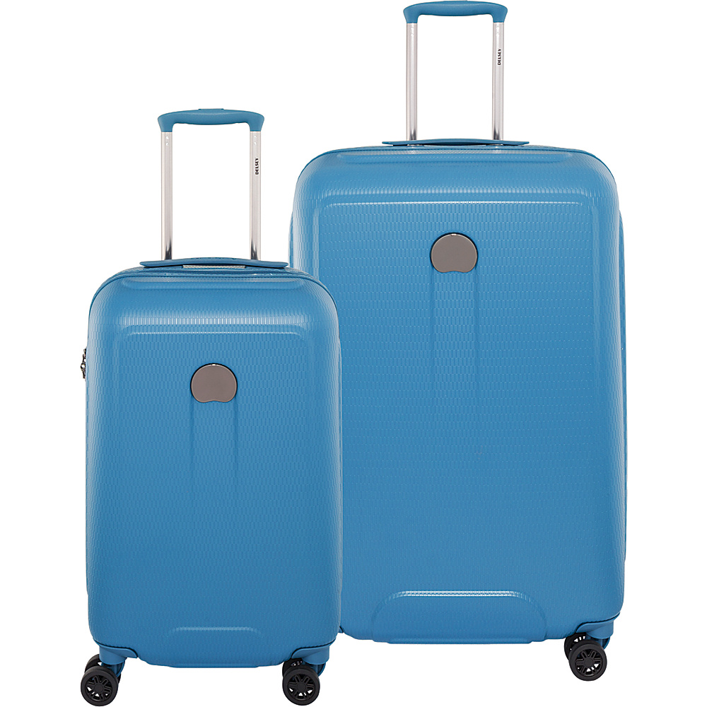 Delsey Embleme Carry On and 25 Spinner Luggage Set Blue Delsey Luggage Sets