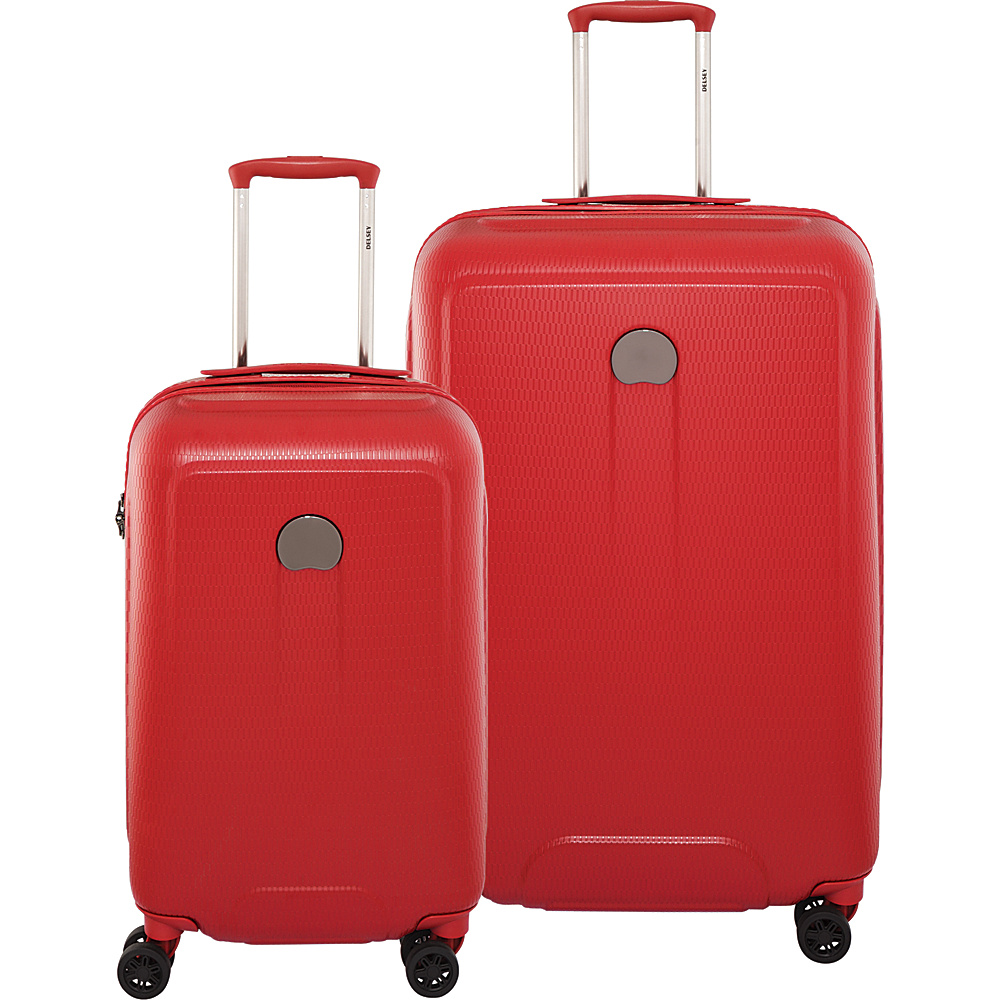 "Delsey Embleme Carry On and 25"" Spinner Luggage Set Red - Delsey Luggage Sets"