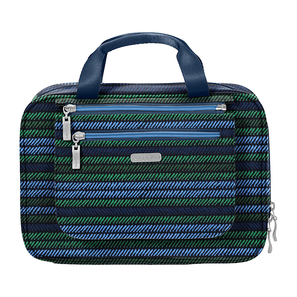 baggallini Deluxe Travel Cosmetic Moss Stripe Multi - baggallini Travel Health & Beauty - Travel Accessories, Travel Health & Beauty