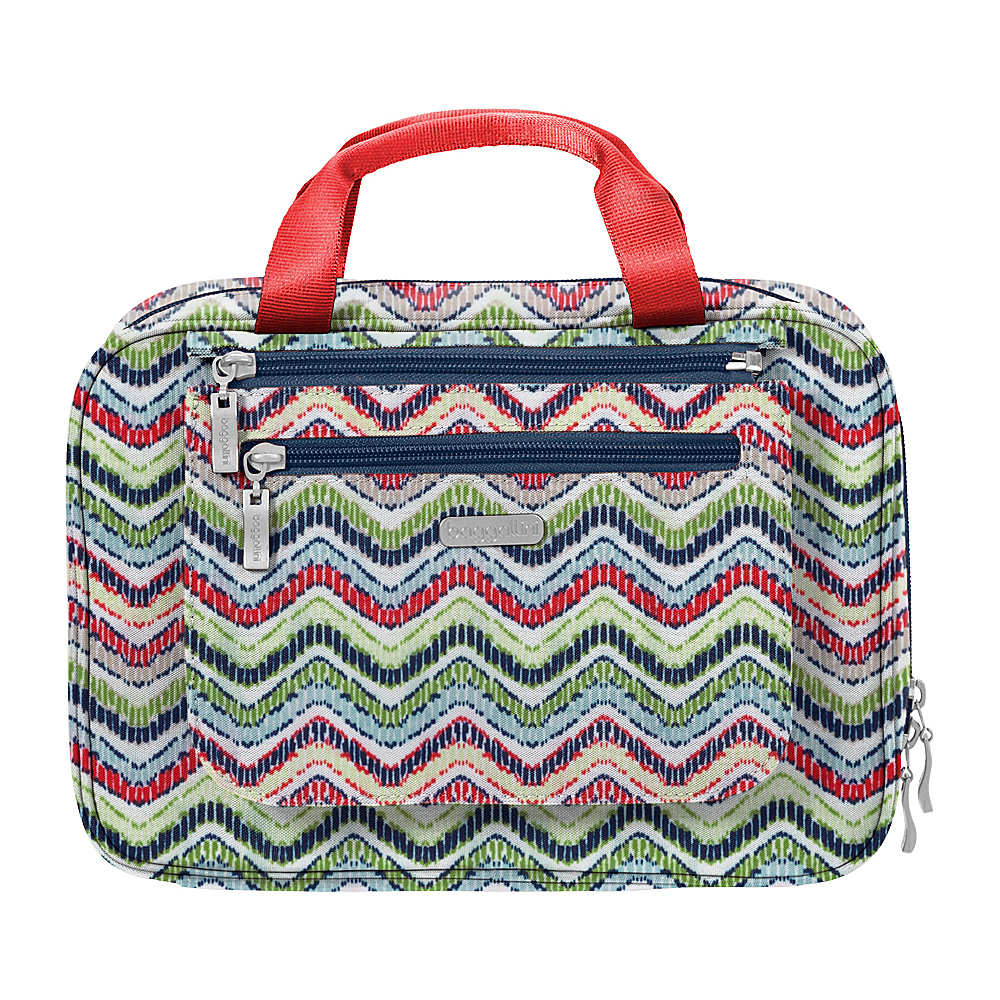 baggallini Deluxe Travel Cosmetic Wave Print Multi - baggallini Travel Health & Beauty - Travel Accessories, Travel Health & Beauty