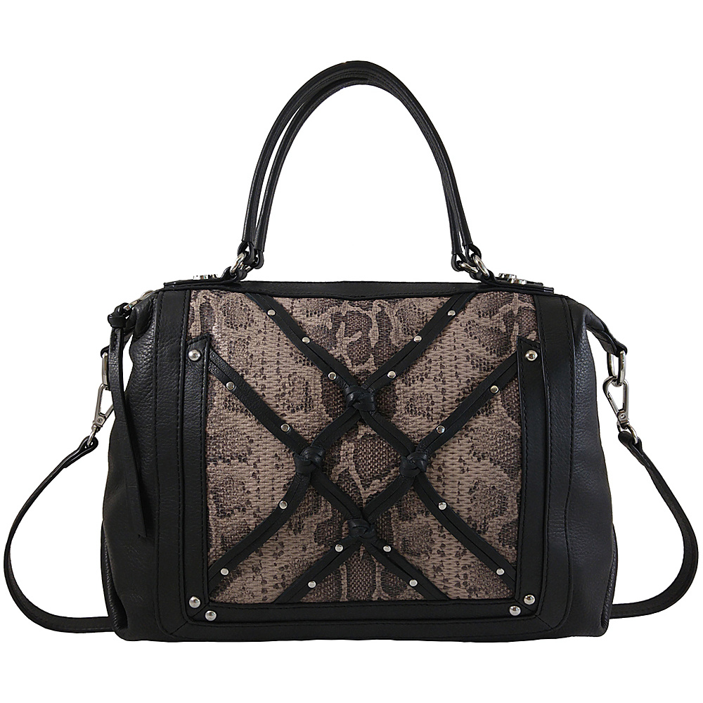 Joelle Hawkens by treesje Isabel Satchel with Snake Black Multi Joelle Hawkens by treesje Leather Handbags