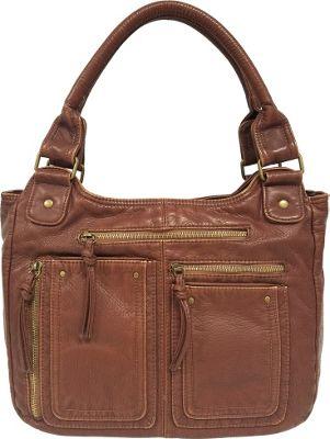 Bueno Washed Pockets Tote Bronze Multi - Bueno Manmade Handbags
