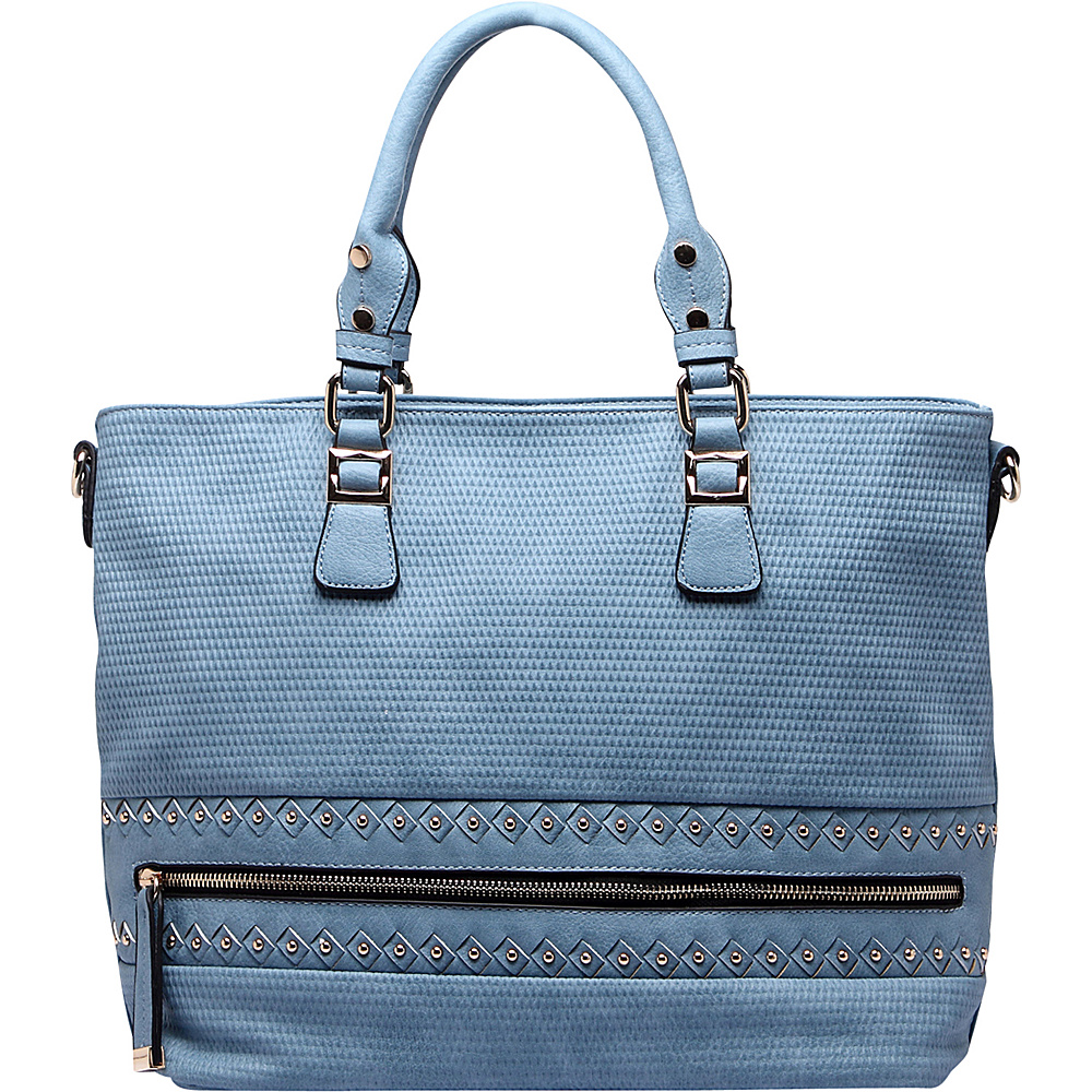 MKF Collection by Mia K. Farrow Greenwich Handbag Blue - MKF Collection by Mia K. Farrow Manmade Handbags - Handbags, Manmade Handbags