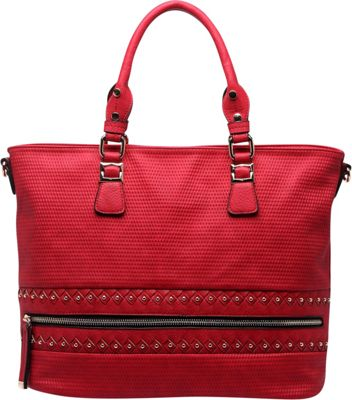 MKF Collection by Mia K. Farrow Greenwich Handbag Red - MKF Collection by Mia K. Farrow Manmade Handbags