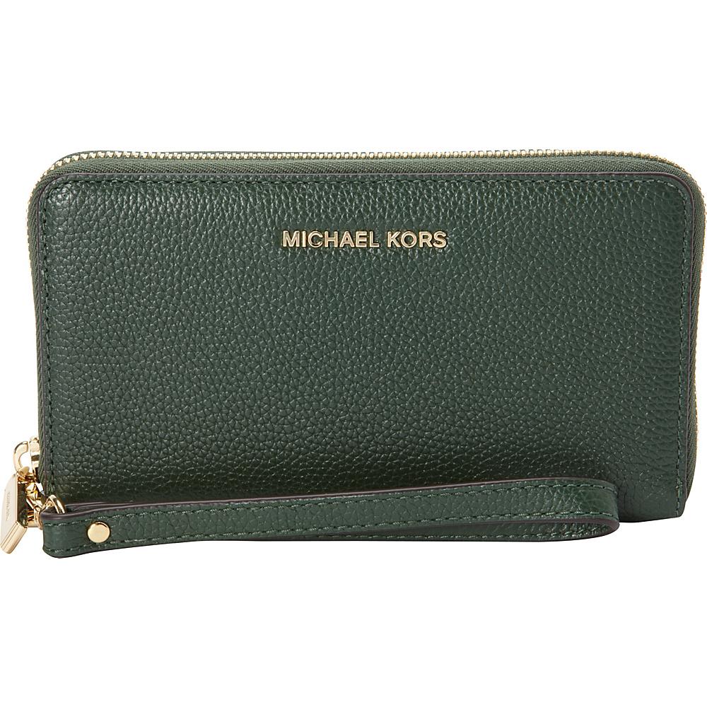 MICHAEL Michael Kors Mercer Large Flat Multifunction Phone Case Moss - MICHAEL Michael Kors Ladies Small Wallets