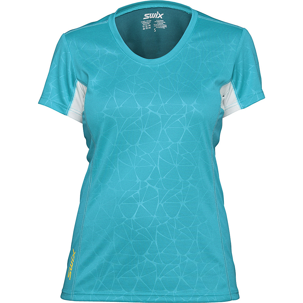 Swix Womens Stadion Tee Shirt M Ice Blue Swix Women s Apparel