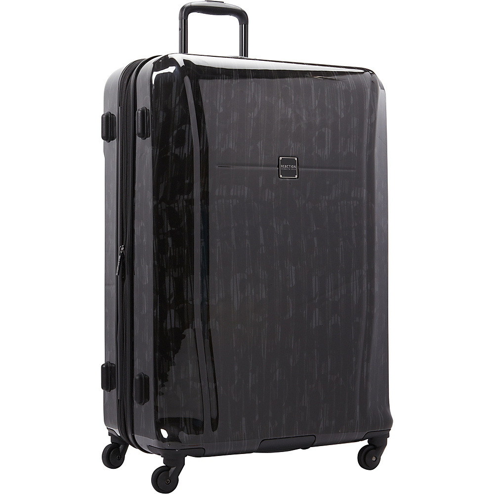 """Kenneth Cole Reaction The Real Collection 28"""" Checked Luggage Black - Kenneth Cole Reaction Hardside Checked"""