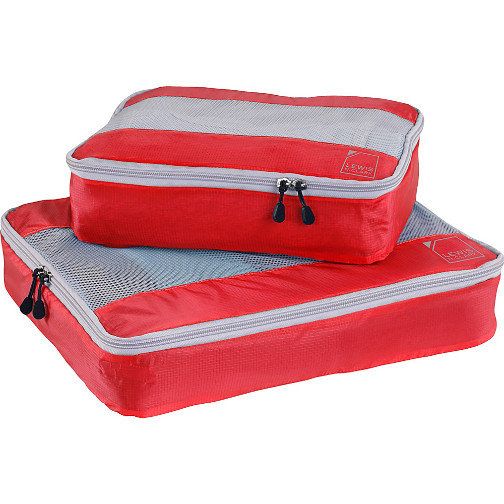 Lewis N. Clark ElectroLight Packing Cube Set Red Lewis N. Clark Travel Organizers
