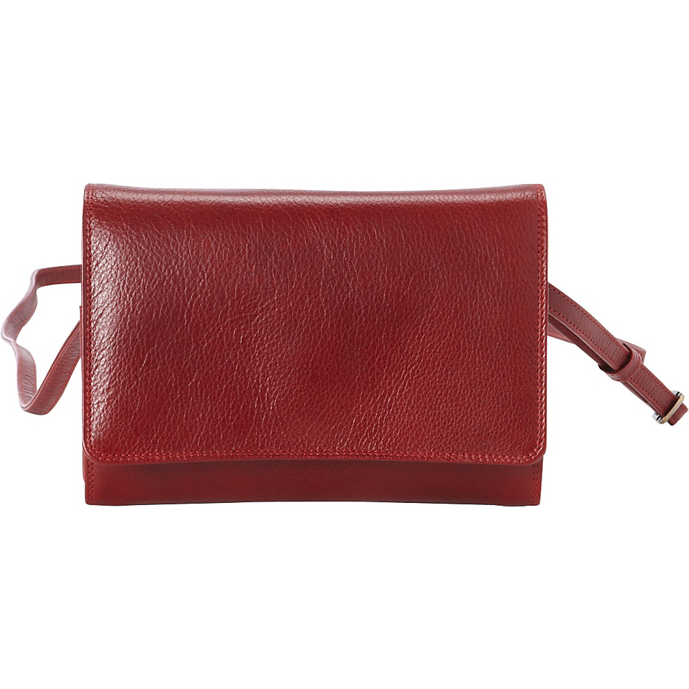 Derek Alexander Small Organizer Crossbody Red - Derek Alexander Leather Handbags - Handbags, Leather Handbags