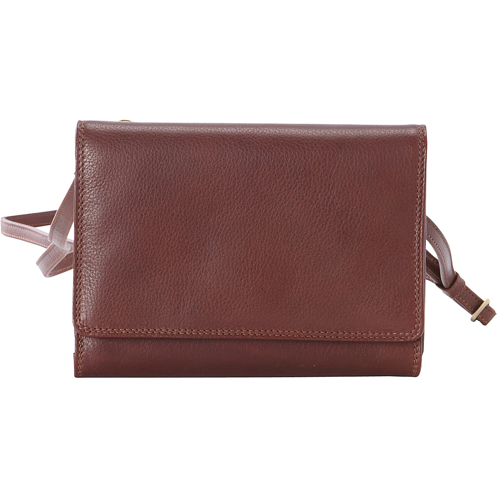 Derek Alexander Small Organizer Crossbody Whisky - Derek Alexander Leather Handbags - Handbags, Leather Handbags
