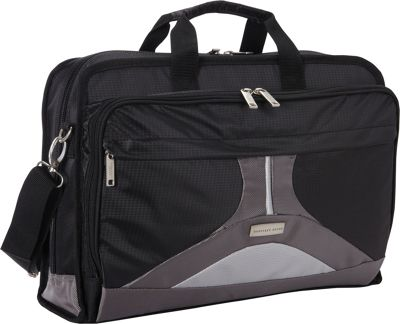 Geoffrey Beene Luggage Geoffrey Beene Luggage Tech Business Brief Black and Gray - Geoffrey Beene Luggage Non-Wheeled Business Cases