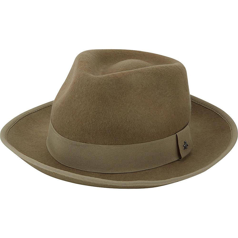 Original Penguin Felted Wool Fedora S/M - Camel - Original Penguin Hats/Gloves/Scarves