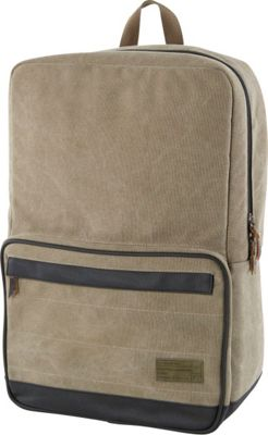 HEX Origin Canvas Backpack Infinity Khaki - HEX Business & Laptop Backpacks
