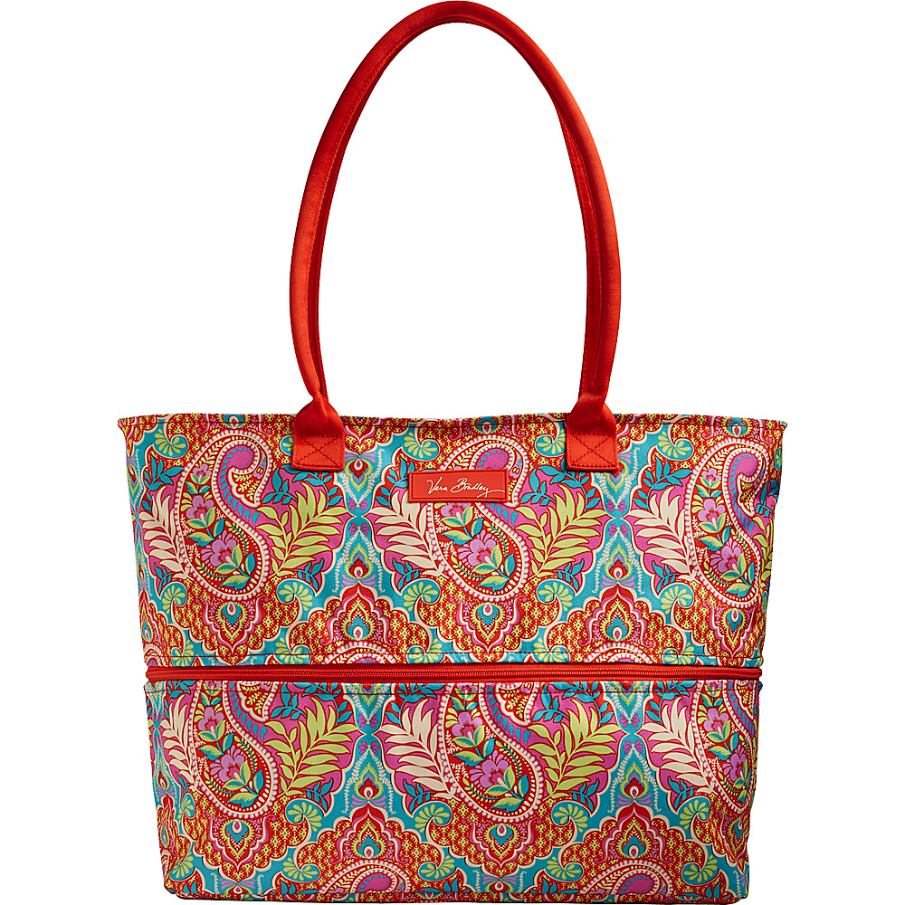 Vera Bradley Lighten Up Expandable Travel Tote - Retired Prints Paisley in Paradise - Vera Bradley Fabric Handbags