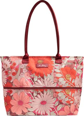 Vera Bradley Lighten Up Expandable Travel Tote - Retired Prints Bohemian Blooms - Vera Bradley Fabric Handbags