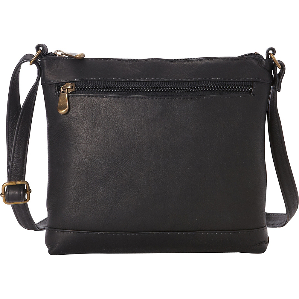 Le Donne Leather Savanna Crossbody Black - Le Donne Leather Leather Handbags - Handbags, Leather Handbags