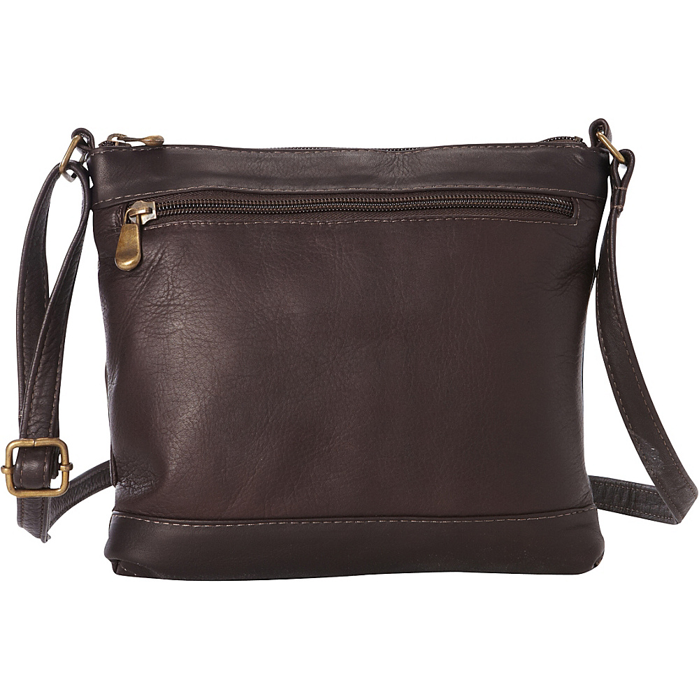 Le Donne Leather Savanna Crossbody Cafe - Le Donne Leather Leather Handbags - Handbags, Leather Handbags