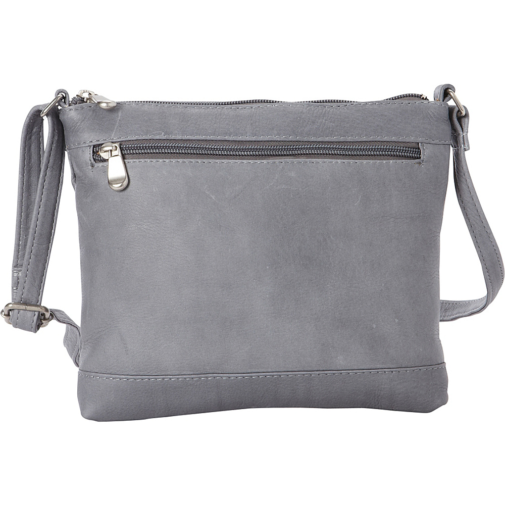 Le Donne Leather Savanna Crossbody Gray - Le Donne Leather Leather Handbags - Handbags, Leather Handbags