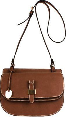 London Fog Handbags Everton Flap Crossbody Nutmeg - London Fog Handbags Manmade Handbags
