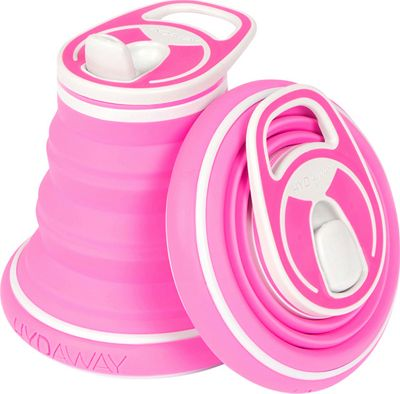 Hydaway Collapsible Water Bottle-12 oz. Rose - Hydaway Hydration Packs and Bottles