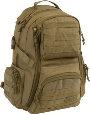 Highland Tactical Crusher Heavy Duty Tactical Backpack Tan - Highland Tactical Tactical