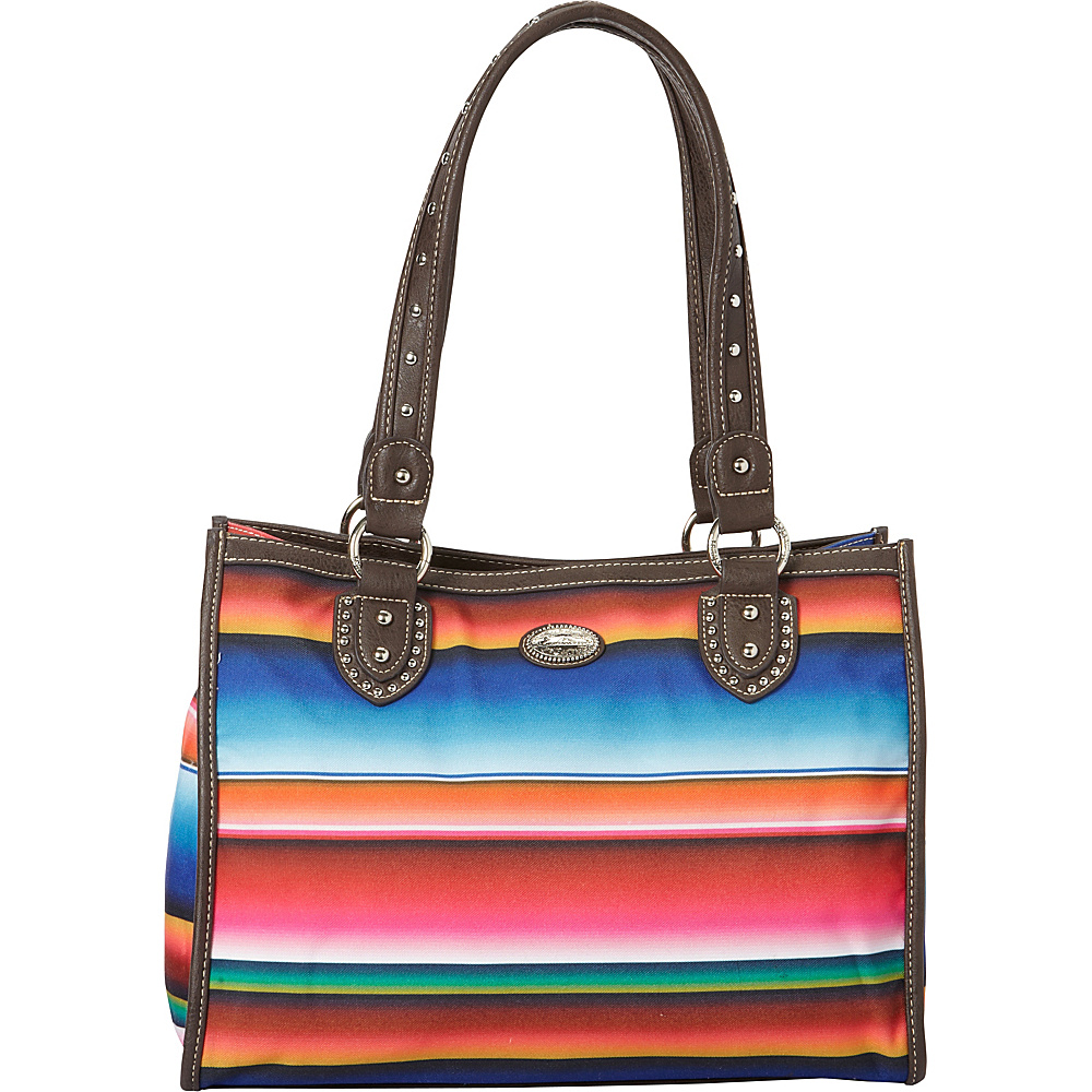 Montana West Serape Small Tote Multi 1 Montana West Fabric Handbags