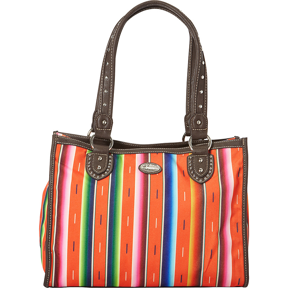 Montana West Serape Small Tote Coral Montana West Fabric Handbags