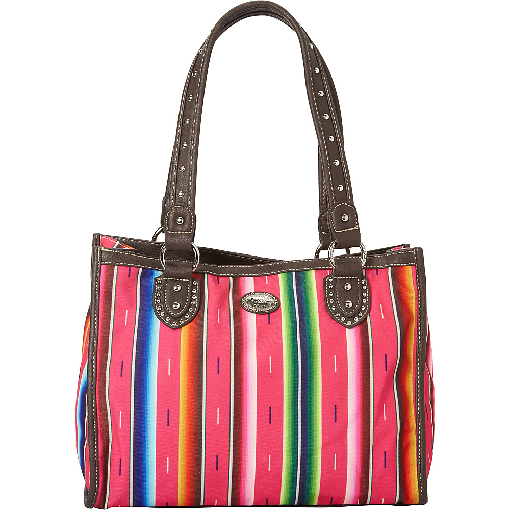 Montana West Serape Small Tote Pink Montana West Fabric Handbags