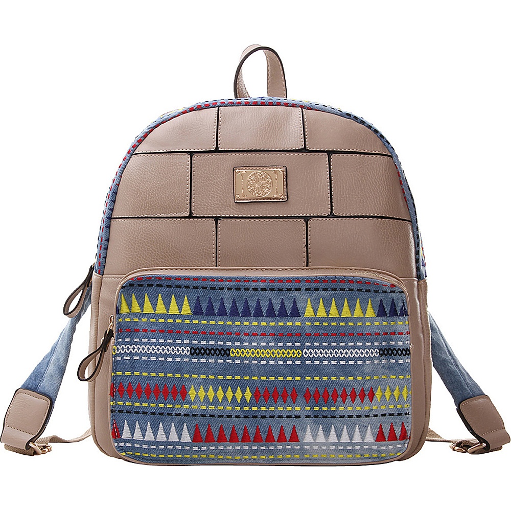 MKF Collection Greyson Back To School Textured Backpack Beige - MKF Collection Everyday Backpacks - Backpacks, Everyday Backpacks