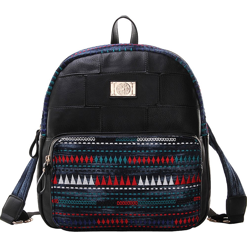 MKF Collection Greyson Back To School Textured Backpack Black - MKF Collection Everyday Backpacks - Backpacks, Everyday Backpacks