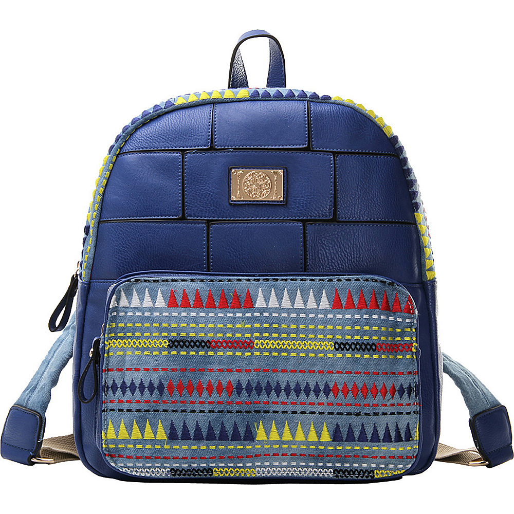 MKF Collection Greyson Back To School Textured Backpack Blue - MKF Collection Everyday Backpacks - Backpacks, Everyday Backpacks