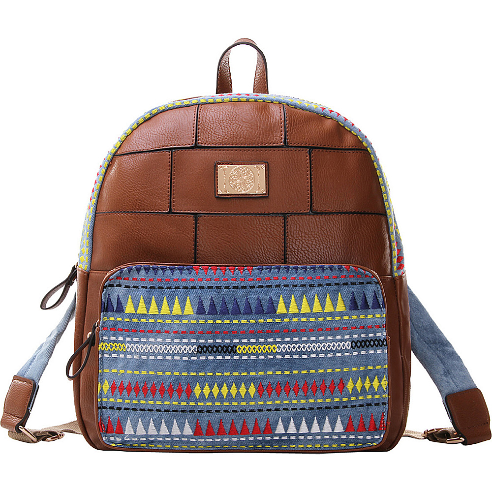 MKF Collection Greyson Back To School Textured Backpack Brown - MKF Collection Everyday Backpacks - Backpacks, Everyday Backpacks