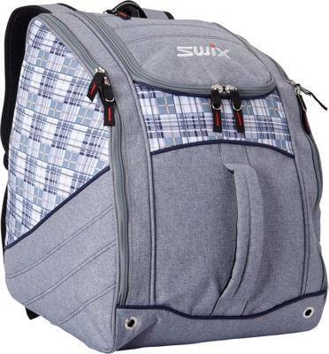 Swix Lindsay Low Pro Tripack Ski Boot Bag Steel Grey Plaid - Swix Ski and Snowboard Bags