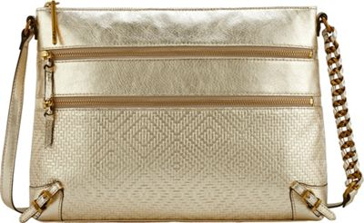 Elliott Lucca Mari 3 Zip Crossbody New Gold - Elliott Lucca Designer Handbags