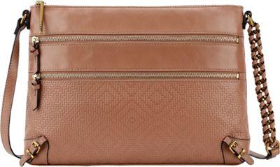 Elliott Lucca Mari 3 Zip Crossbody Almond - Elliott Lucca Designer Handbags