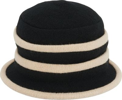 Adora Hats Wool Accordion Cloche Hat One Size - Natural - Adora Hats Hats/Gloves/Scarves
