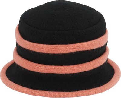 Adora Hats Wool Accordion Cloche Hat One Size - Pink - Adora Hats Hats/Gloves/Scarves