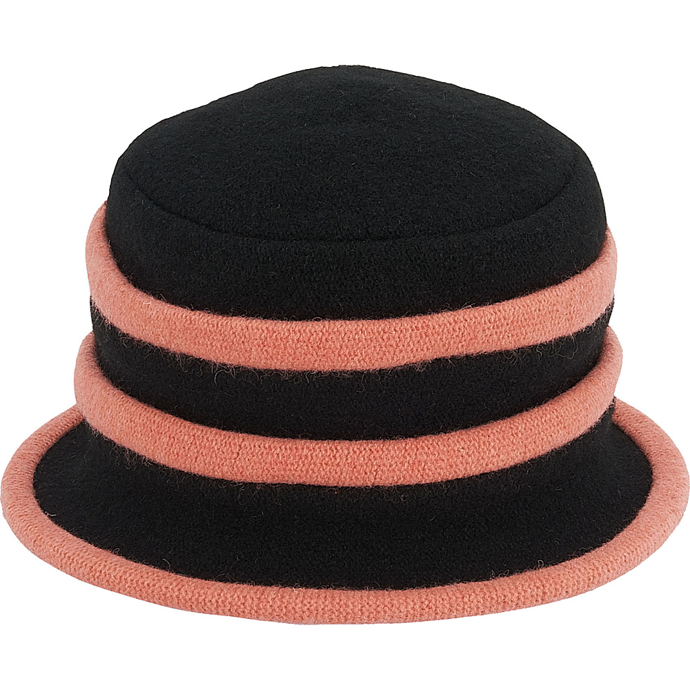 Adora Hats Wool Accordion Cloche Hat Pink Adora Hats Hats Gloves Scarves