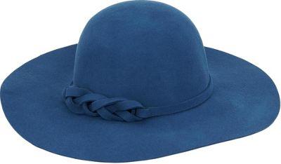 Adora Hats Wool Felt Floppy Hat Blue - Adora Hats Hats
