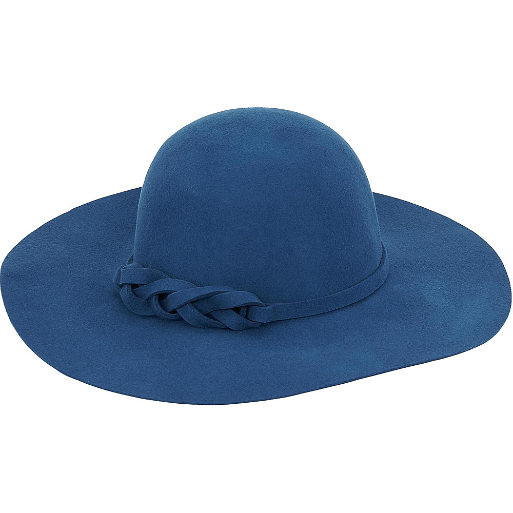 Adora Hats Wool Felt Floppy Hat Blue Adora Hats Hats Gloves Scarves