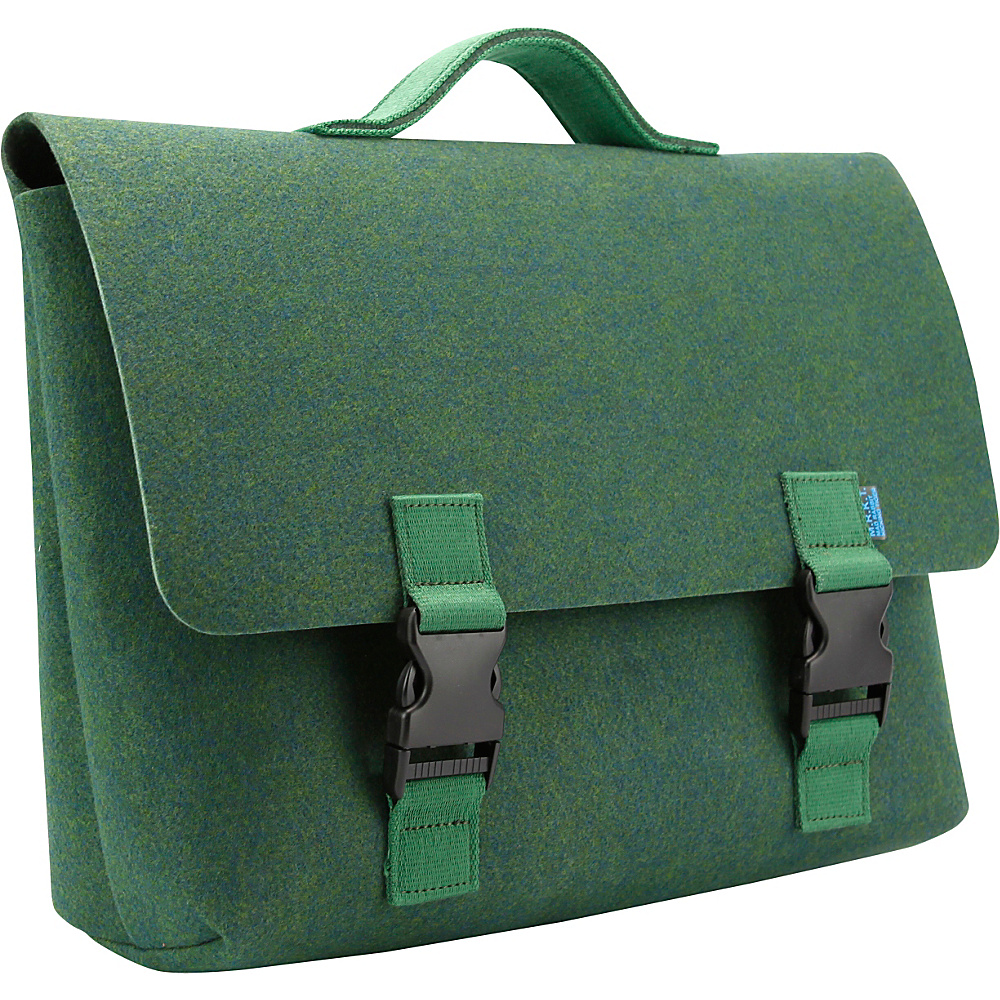 Mad Rabbit Kicking Tiger Kel Briefcase Midnight Green Mad Rabbit Kicking Tiger Non Wheeled Business Cases