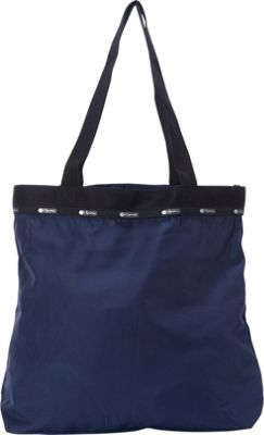 LeSportsac Travel Simply Square Tote Classic Navy T - LeSportsac Fabric Handbags 10474958