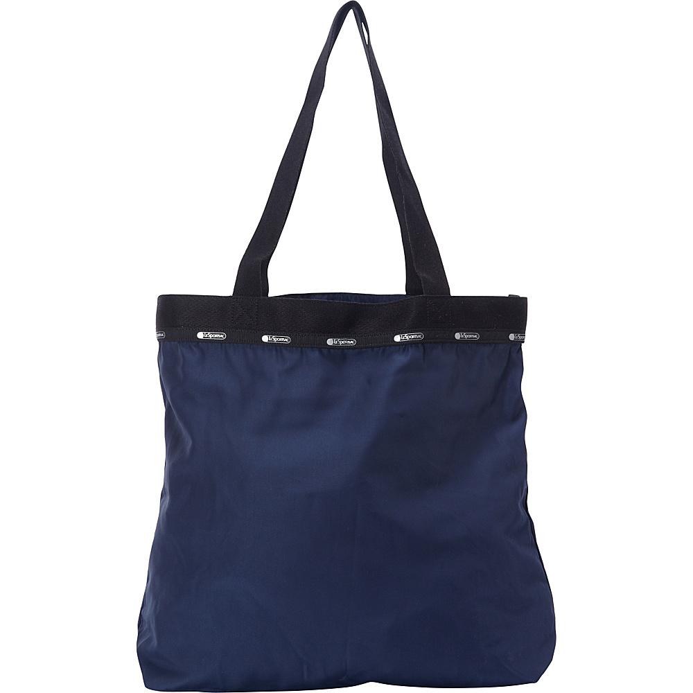 LeSportsac Travel Simply Square Tote Classic Navy T LeSportsac Fabric Handbags