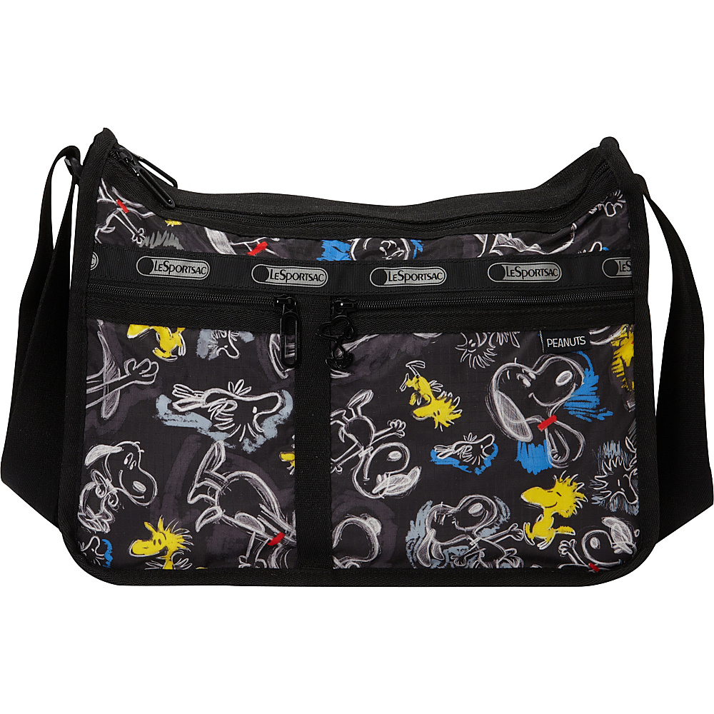 LeSportsac Peanuts X LeSportsac Deluxe Everyday Bag Chalkboard Snoopy - LeSportsac Fabric Handbags
