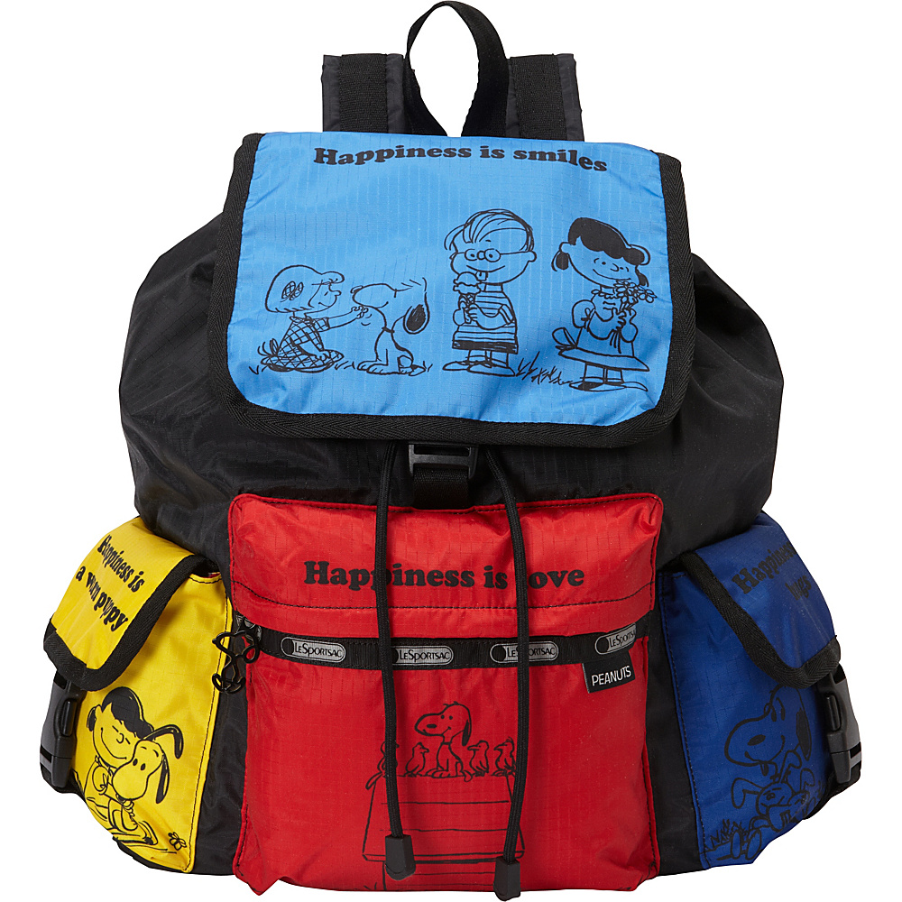 LeSportsac Peanuts X LeSportsac Voyager Backpack Snoopy and Friends - LeSportsac School & Day Hiking Backpacks